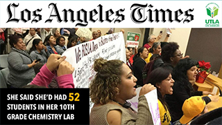 LA Times Article: Protesters shut down Los Angeles Board of Education meeting