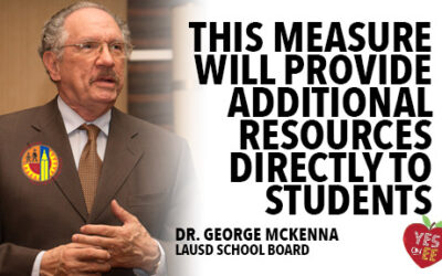 Article by the Los Angeles Sentinel: MEASURE EE PUTS STUDENTS FIRST